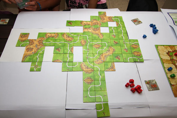 End of Carcassonne Game After Scoring